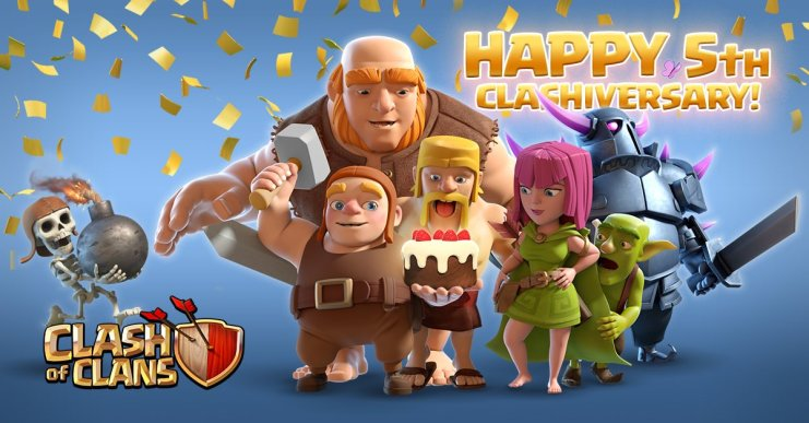This week Clash of Clans is celebrating its 5th anniversary