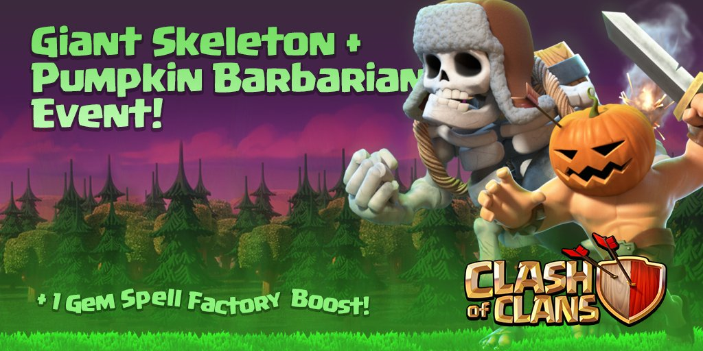 Giant Skeleton and Pumpkin Barbariam event
