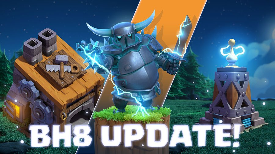 Clash Builder Hall 8 Update